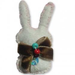 Felt Pendant Rabbit 30x60mm