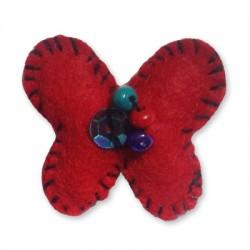 Felt Pendant Butterfly 30x35mm