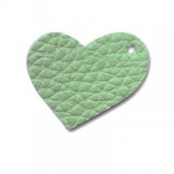 PU leather heart 35mm