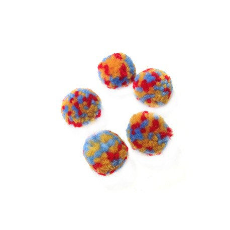 Pompon en Polyester/Laine Multi ~20mm