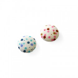 Fabric Round Button Dots 15mm