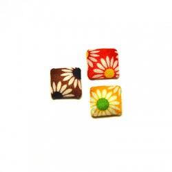Fabric Square Button 12mm