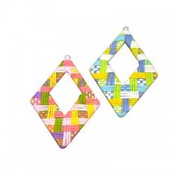 Fabric Pendant Rhombus 48x60mm