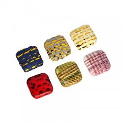 Fabric Button Square 15mm