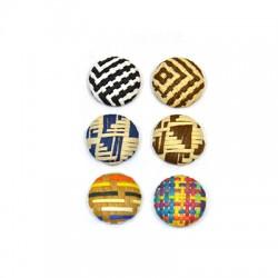 Fabric Button Round 18mm