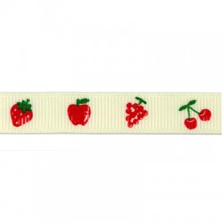 Ribbon Grossgrain with Fruits 12mm