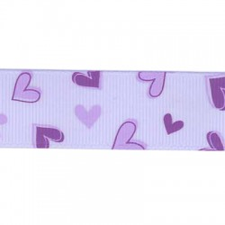 Ribbon Grossgrain with Hearts 23mm