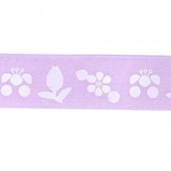 Ribbon Synthetic with Flowers 20mm