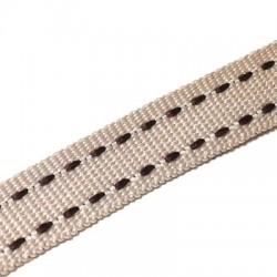 Κορδέλα Συνθετική Γκρο με 2 Ραφές 10mm