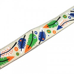 Polyester Ribbon with Leaves 16mm (~3yards/pack)