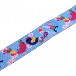 Polyester Ribbon with Birds 16mm (~3yards/pack)