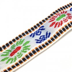 Polyester Ribbon Ethnic 32mm (~5yards/pack)