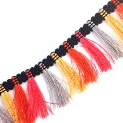 Polyester Ribbon Fringe 40mm (~3yards/pack)