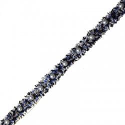 Κορδέλα Πολυεστερική με Πέρλες 15mm (~2γιάρδες/πακέτο)