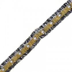 Nastro di Poliestere 20mm con Perle ABS (~2yard/conf)