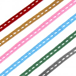 Polyester Ribbon Stitched 5mm (25mtrs/pack)