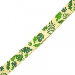 Cotton Ribbon w/ Leaves 15mm (10mtrs/pack)