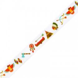 Ribbon Grossgrain w/ Indian Symbols 15mm (~10yards/pack)