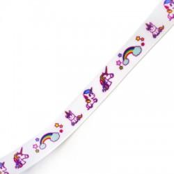 Ribbon Grossgrain w/ Unicorn 15mm (~10yards/pack)