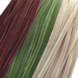 Κορδόνι Βελούδο Στρογγυλό με Εσωτερικό Καουτσούκ 3mm (~85cm)