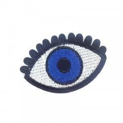 Applicazione Termoadesiva di Tela Occhio Portafortuna 58x39mm