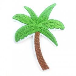 Palmier en tissu avec colle haute température 58x70mm