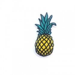 Ananas en tissu avec colle haute température 30x68mm