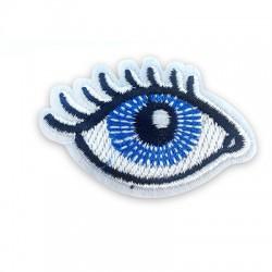 Applicazione Termoadesiva di Tela Occhio Portafortuna 34x54mm
