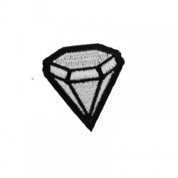 Υφασμάτινο Στοιχείο Θερμοκολλητικό Διαμάντι 38x41mm