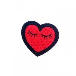 Υφασμάτινο Στοιχείο Θερμοκολλητικό Καρδιά 34x31mm