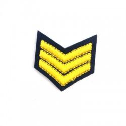 Applicazione Termoadesiva di Tela Insigna Militare 40x37mm