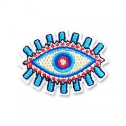 Applicazione Termoadesiva di Tela Occhio Portafortuna 54x50mm