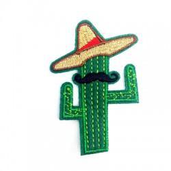 Applicazione Termoadesiva di Tela Cactus Messicano 50x71mm