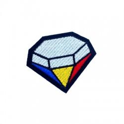 Υφασμάτινο Στοιχείο Θερμοκολλητικό Διαμάντι 56x48mm