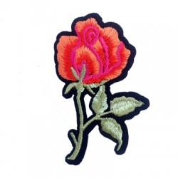 Υφασμάτινο Στοιχείο Θερμοκολλητικό Τριαντάφυλλο 50x74mm