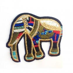 Applicazione Termoadesiva di Tela Elefante Indiano 68x55mm