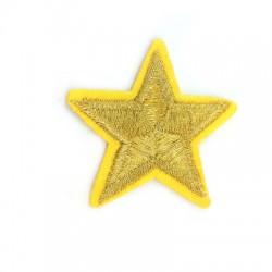 Application thérmo-adhésive étoile en tissu 50mm
