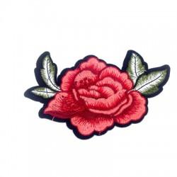 Υφασμάτινο Στοιχείο Θερμοκολλητικό Τριαντάφυλλο 110mm