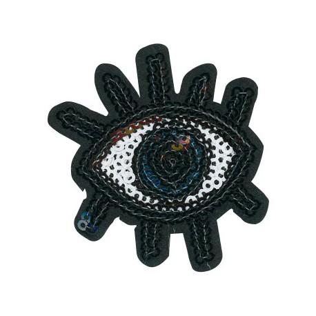 Fabric Hot Fix Eye ~50x58mm