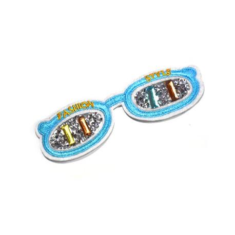 Fabric Hot Fix Glasses ~118x39mm