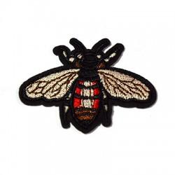 Υφασμάτινο Στοιχείο Θερμοκολλητικό Μέλισσα 60x45mm