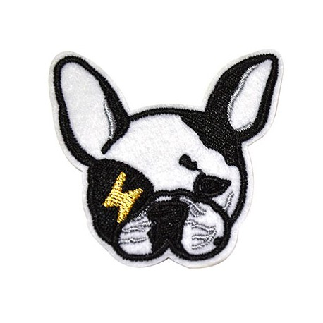 Fabric Hot Fix Dog ~60x63mm