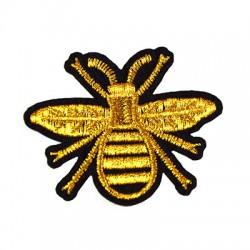 Υφασμάτινο Στοιχείο Θερμοκολλητικό Μέλισσα 64x52mm