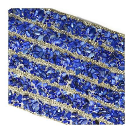 Φύλλο με Ημιπολύτιμες Πέτρες 120x400mm