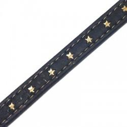Cordon Plat de 10mm en Liège Cousu avec Étoiles