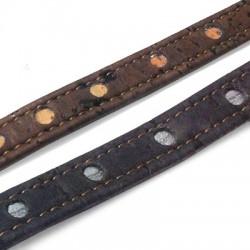 Cordon Plat en Liège Cousu avec Cercles, 10mm
