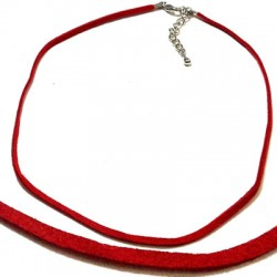 Semi finished Necklace 40cm (Suede Cord)