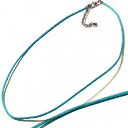 Semi finished Necklace 40cm (Waxed Cord 2mm)