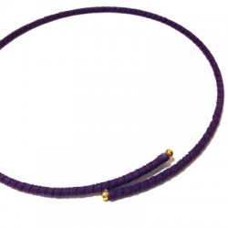 Semi finished Necklace Wire With Suede