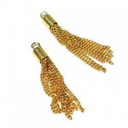 Metal Tassel with Chains 30mm